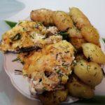 Сочная горбуша в духовке с овощами со сливками и сыром