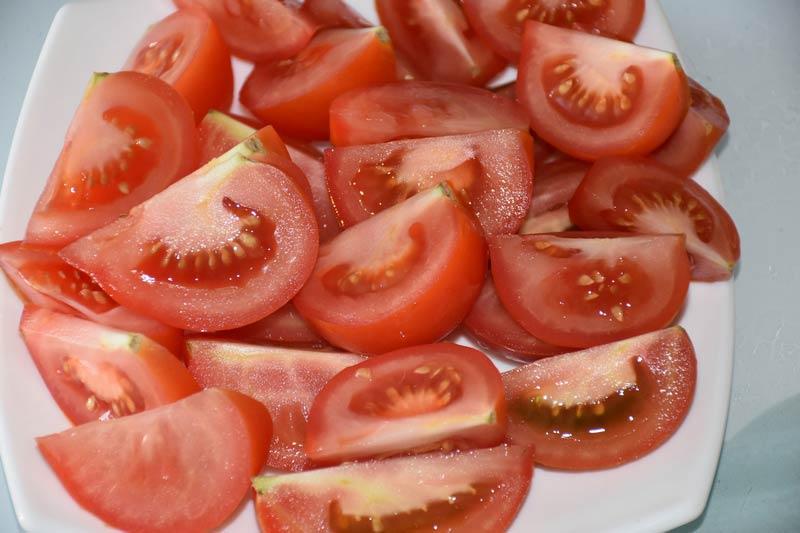 помидоры дольками