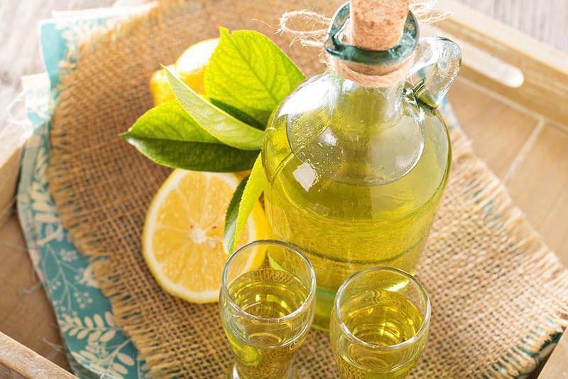 с лимономи и мятой
