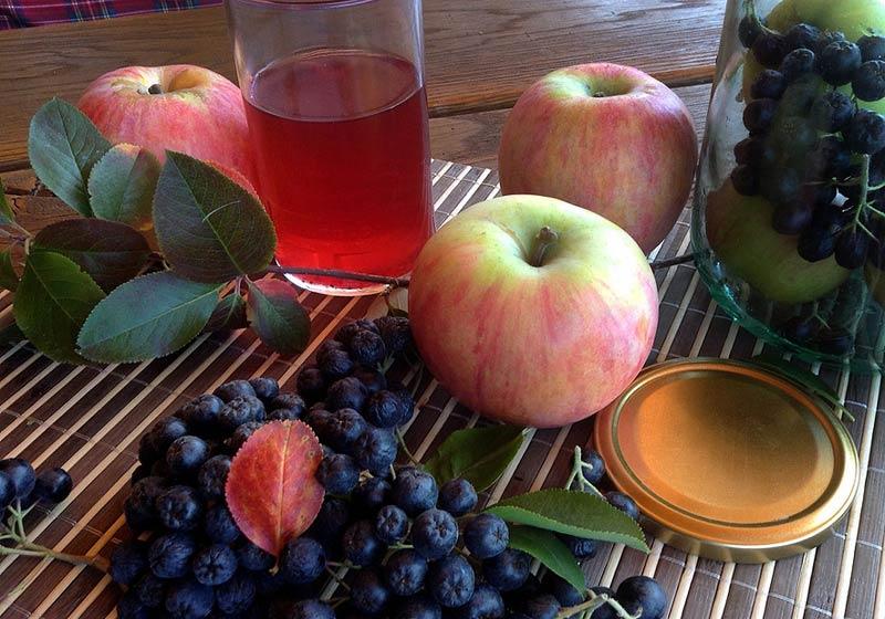 вино из аронии с яблоками
